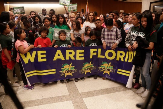 Hundreds packed the Capitol rotunda to lobby for immigration reform during a news conference organized by the We Are Florida Coalition Tuesday.