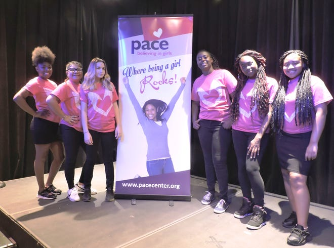 Alyshia, left, Idaliyz, Sage, Deautra, Teja and Jakiah of the PACE Center for GirlsTreasure Coast, located in Fort Pierce.