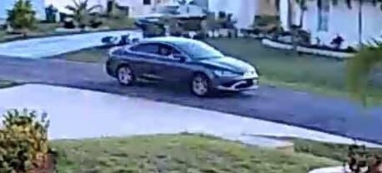 Police are searching for a suspect they said opened fire Monday in a Port St. Lucie neighborhood before fleeing in a gray Chrysler 200.