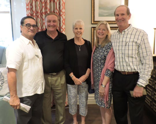 Jose Fernandez, left, Lester and Nancy Sinton and Wendy and Bill Camp at the Center for Constitutional Values' March Luncheon Speaker Series.