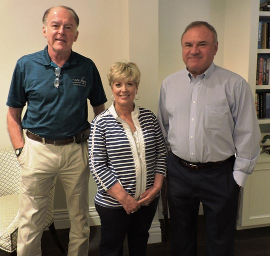 Gary Merritt, left, with Pam and Rick Kennard at the Center for Constitutional Values' March Luncheon Speaker Series.