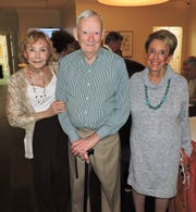 Ann Holmberg, left, Herb Harkins and Ethel Christin at the Center for Constitutional Values' March Luncheon Speaker Series.