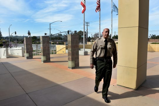 "Sheriff's Capt. Victor Fazio says his new role as Moorpark police chief is ""more global in scope, not just looking at a specific criminal act, but more so running a police station and making sure that I'm giving deputies that are working there what they need to do the job."""