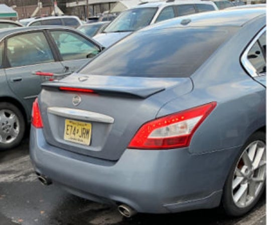 State police say the suspects have been seen driving this gray Nissan Maxima with New Jersey tags E74JRM.