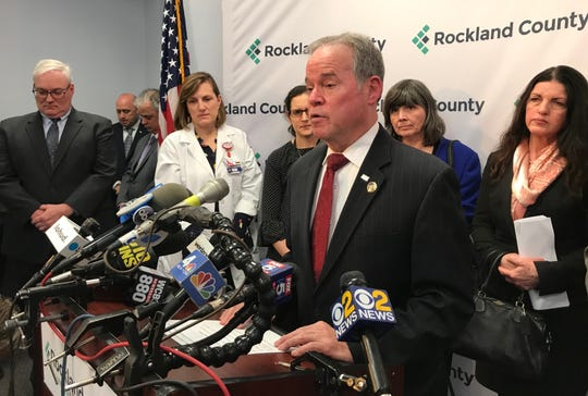 Rockland County Executive Ed Day announces a state of emergency for Rockland County related to the measles outbreak.