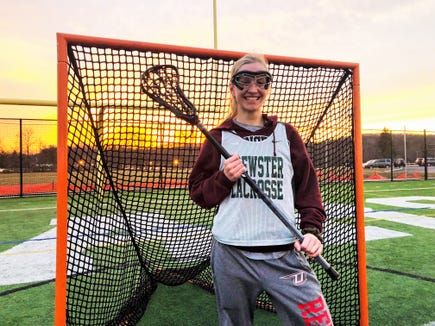 Girls lacrosse player of the week Haile Ratajack of Brewster .