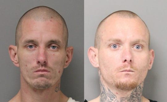 State police charged John Holt (left) and Josh Holt for a burglary in Seaford on March 20.
