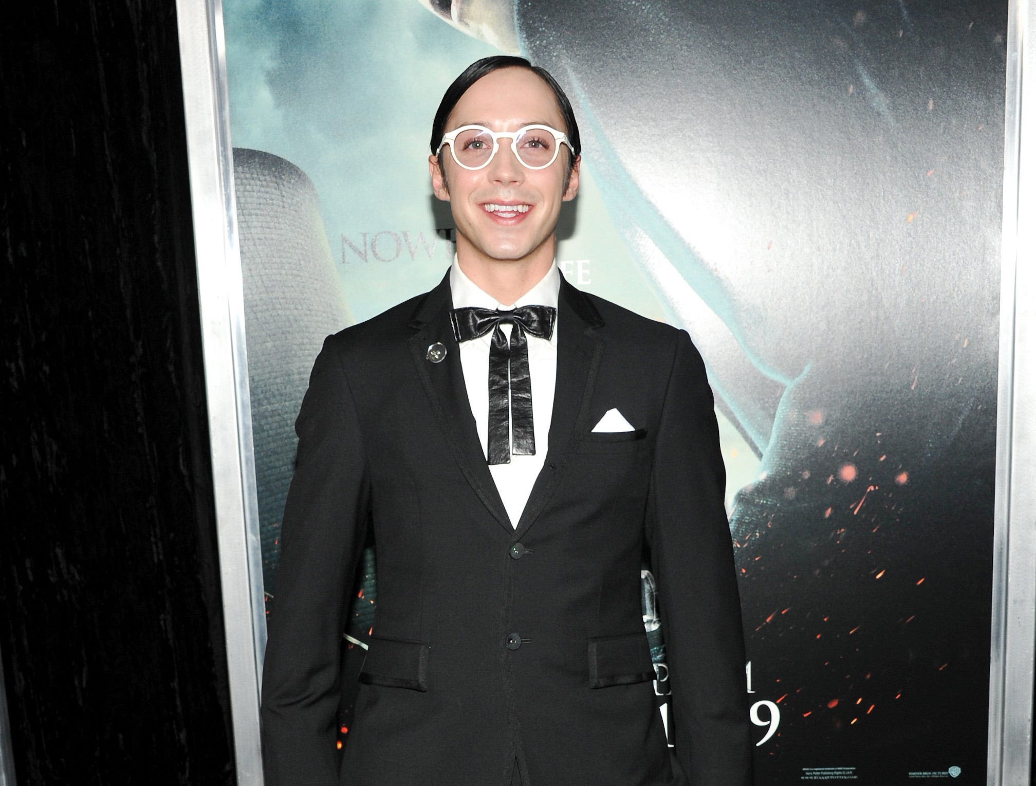 "Figure skater Johnny Weir attends the premiere of ""Harry Potter and the Deathly Hallows Part 1"" at Alice Tully Hall on Monday, Nov. 15, 2010 in New York."