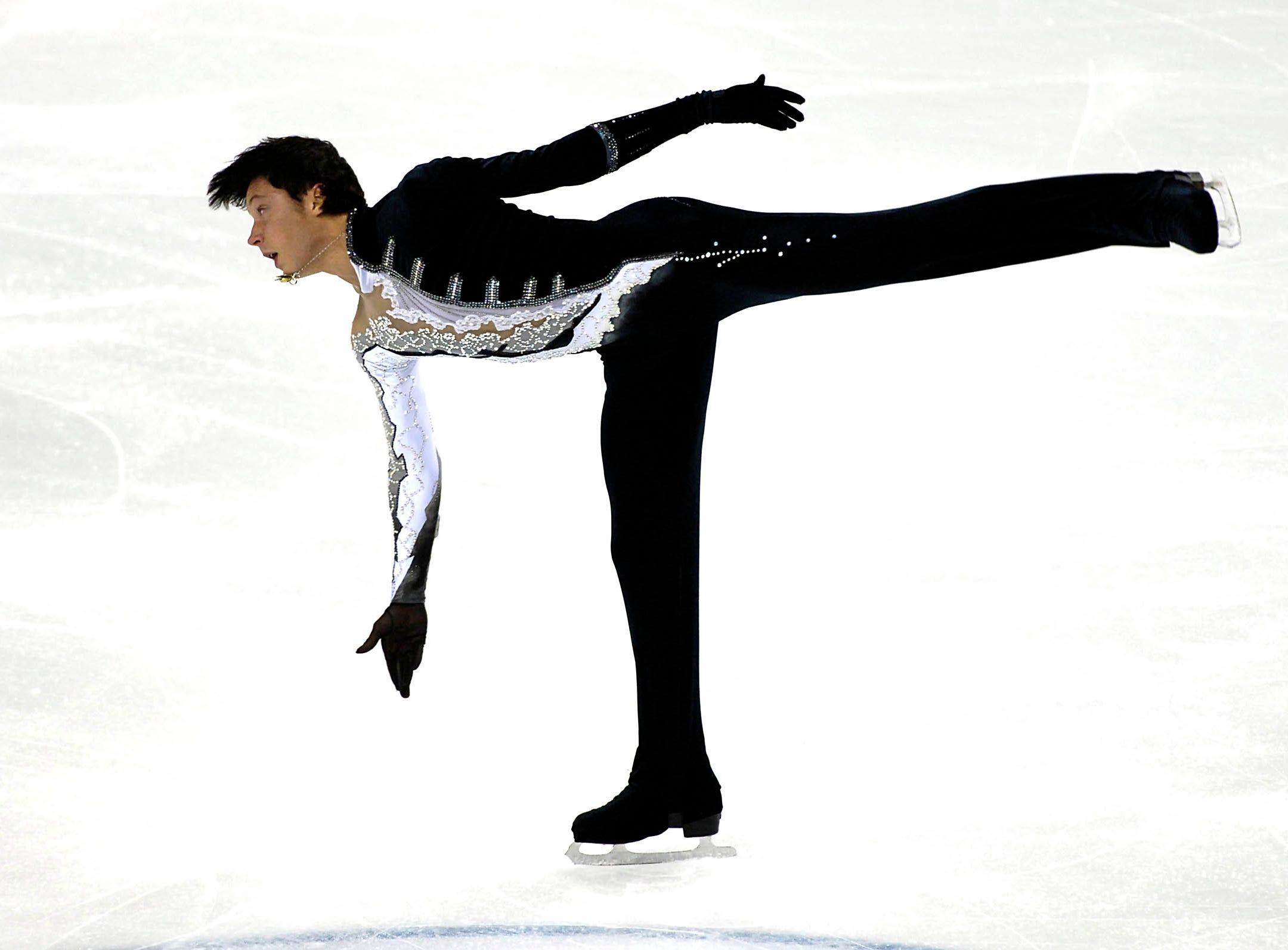 Johnny Weir of the United States, performs during the Ice Men short program of the Figure Skating final 2007 at the Palavela in Turin, Italy, Friday, Dec. 14, 2007.
