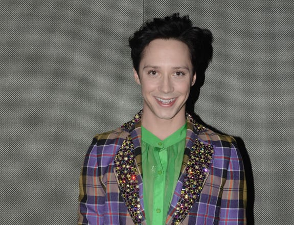 Johnny Weir attends the Chris Benz Fall 2011 presentation during Mercedes-Benz Fashion Week at David Rubenstein Atrium on February 14, 2011 in New York City.