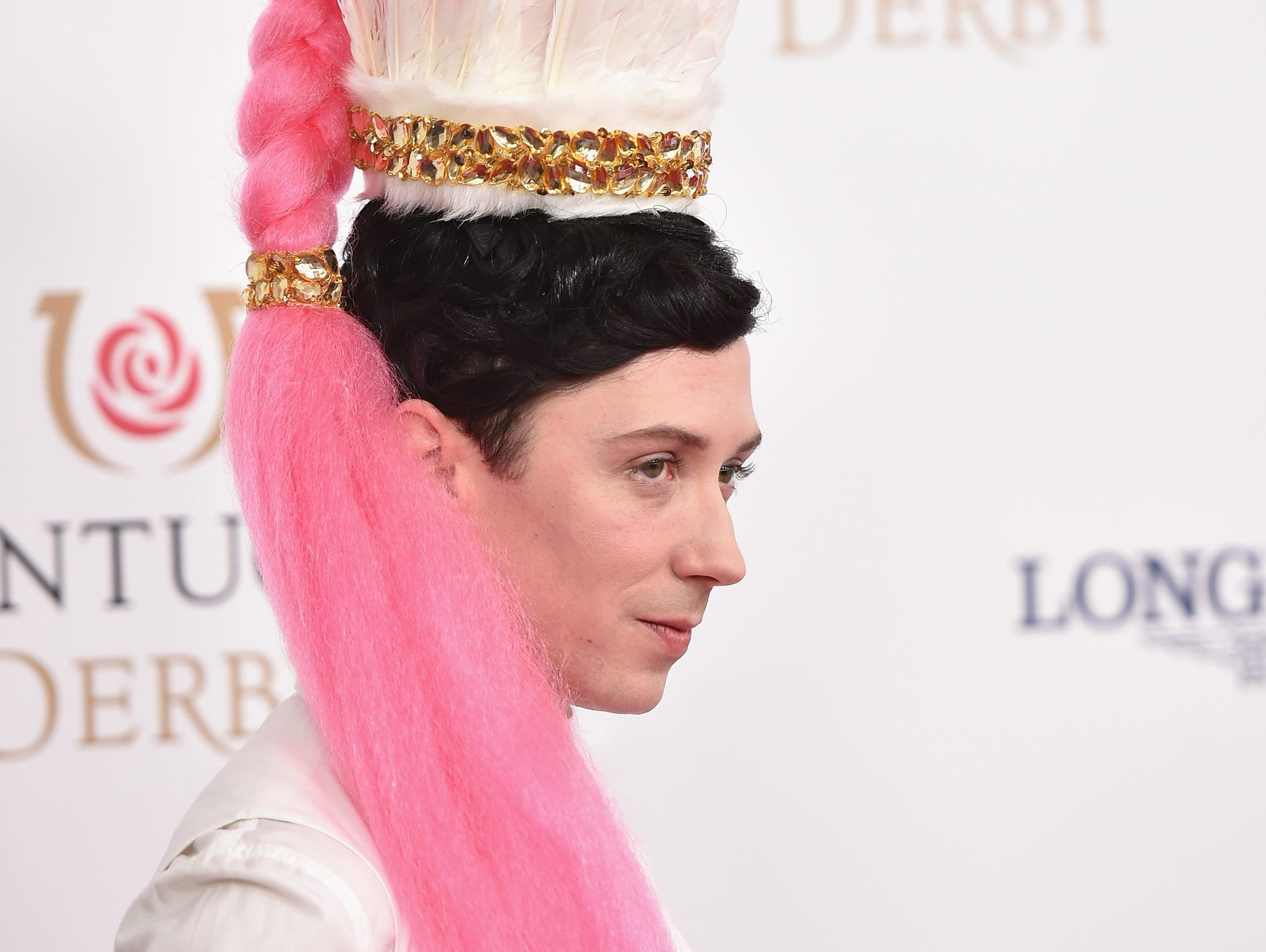 Figure skater Johnny Weir attends the 142nd Kentucky Derby at Churchill Downs on May 07, 2016 in Louisville, Kentucky.