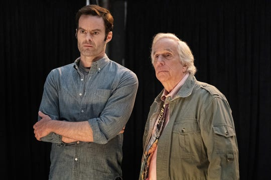 Hitman Barry (Bill Hader), left, embarks on a career in acting under the tutelage of coach Gene Cousineau (Henry Winkler) in the the HBO dark comedy, 'Barry.'