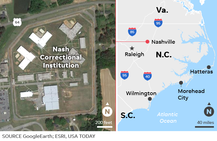 North Carolina jail escape: Five inmates escape