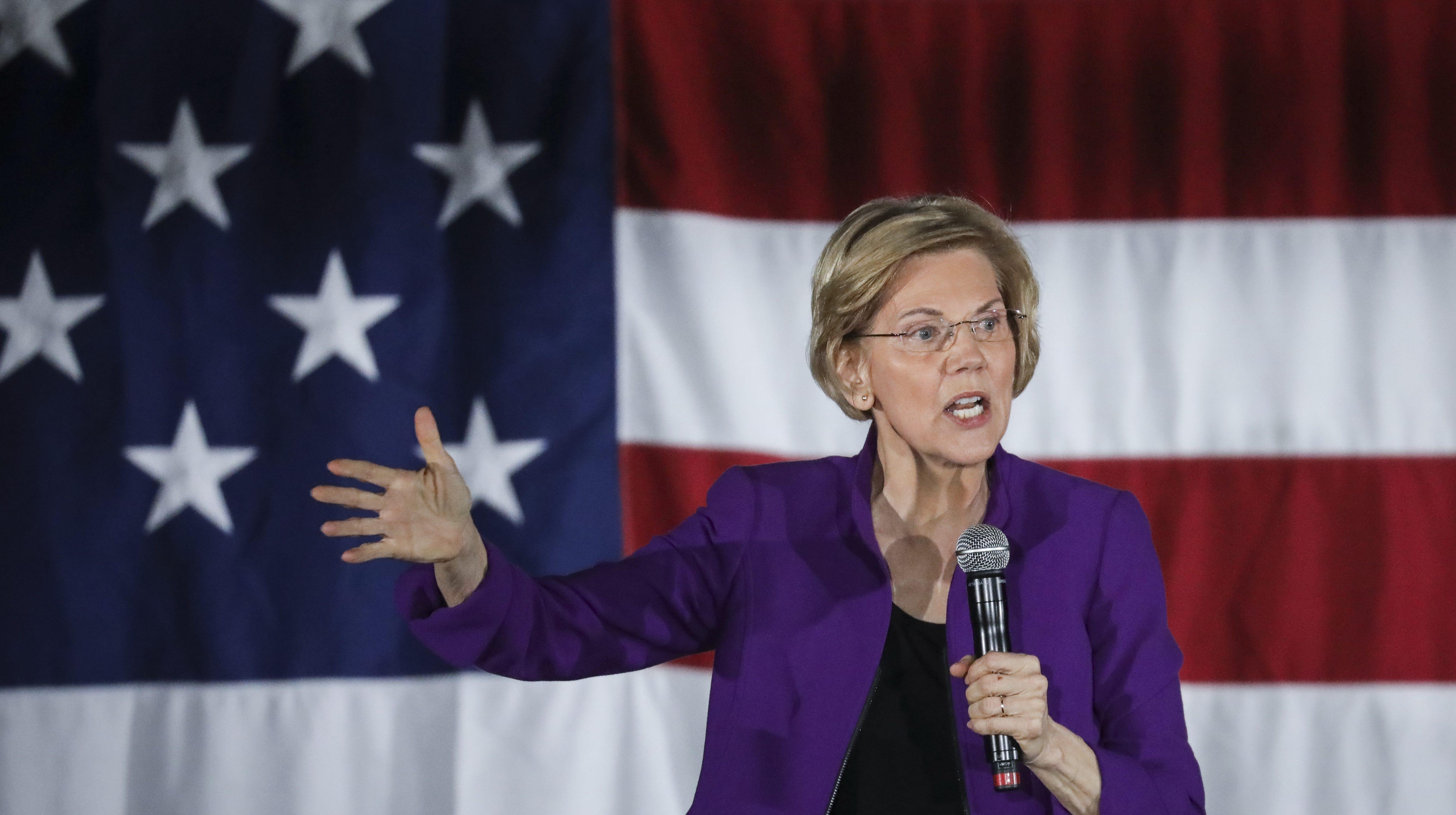 Sen. Elizabeth Warren, D-Mass. on March 8, 2019 in New York City.