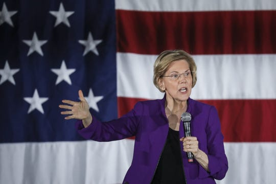Sen. Elizabeth Warren, D-Mass. on March 8, 2019 in New York City.