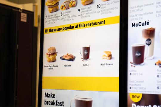 McDonald's Drive Thru menu bar may soon contain personalized information by location.