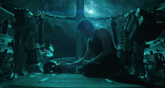 "Tony Stark (Robert Downey Jr.) begins ""Avengers: Endgame"" stuck in space after a nasty battle with cosmic villain Thanos."
