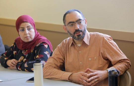 Ahmed and Dalia Abdelnaby attend the Interfaith Sack Lunch Conversation event at the Islamic Center of Boise on  February 27th, 2019. Ahmed and Dalia have been vocal opponents of the so-called Anti-Sharia law bills.