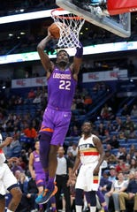 Phoenix Suns center Deandre Ayton