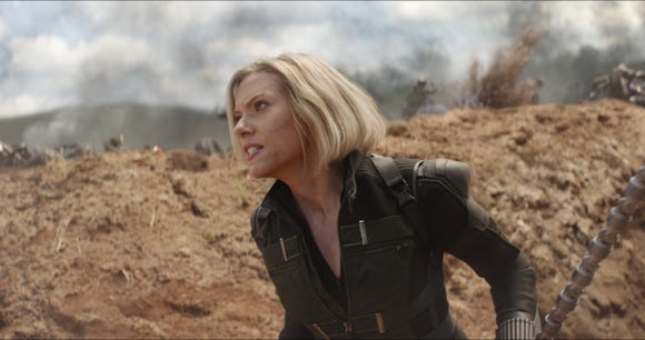 "Black Widow (Scarlett Johansson) returns in ""Endgame"" before getting her own solo prequel film."