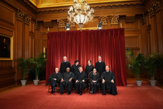 The formal 2018 portrait of the Supreme Court of the United States, taken in November, 2018, in Washington, D.C.