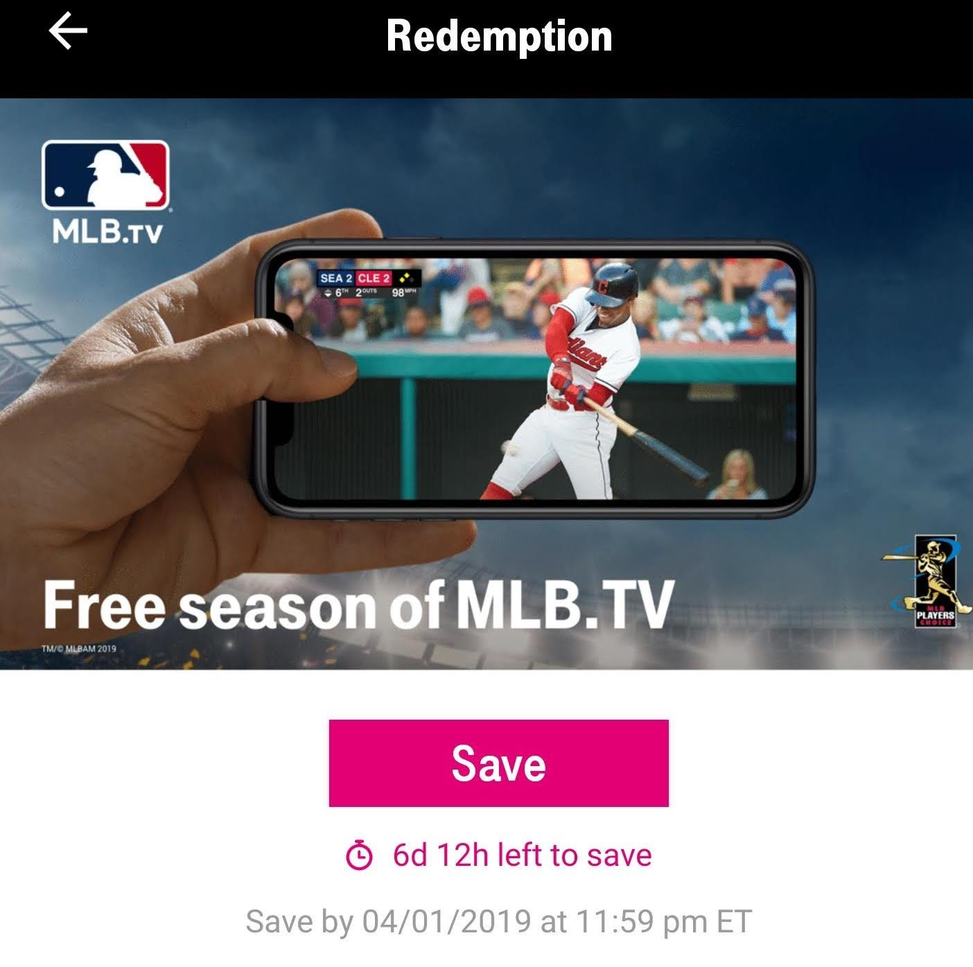 T-Mobile Tuesdays offers MLB.TV