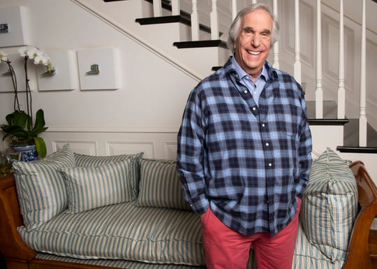 Henry Winkler, seen in his Los Angeles home, plays narcissistic acting coach Gene Cousineau on HBO's 'Barry,' which returns for its second season Sunday.