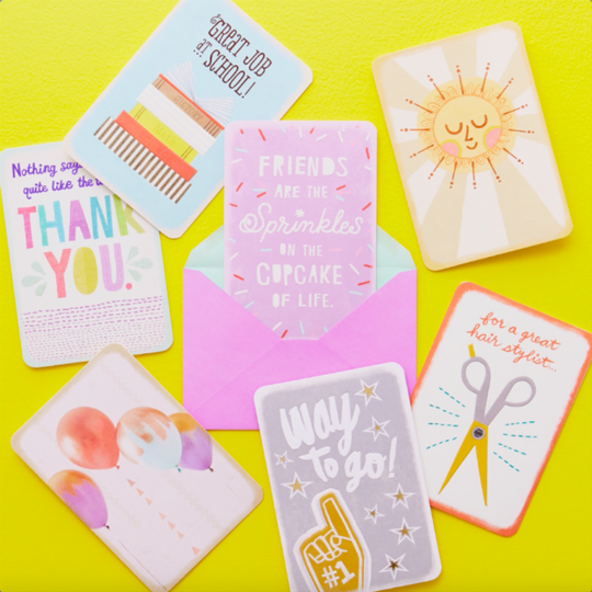 the company carved around 28 percent of its retail space from 2013 to 2018. Hallmark greeting cards.