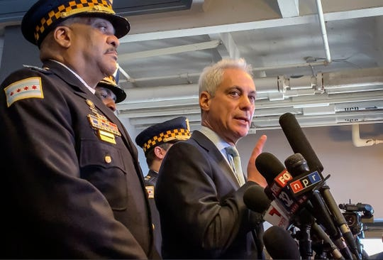 Chicago Mayor Rahm Emanuel, right, and Chicago Police Superintendent Eddie Johnson are dismayed by the case.