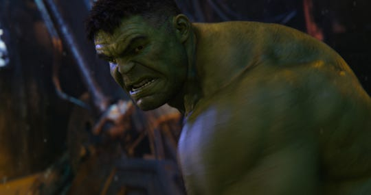 """After getting whupped in """"Infinity War,"""" Hulk (Mark Ruffalo) looks for a return fight against Thanos in """"Avengers: Endgame."""""""