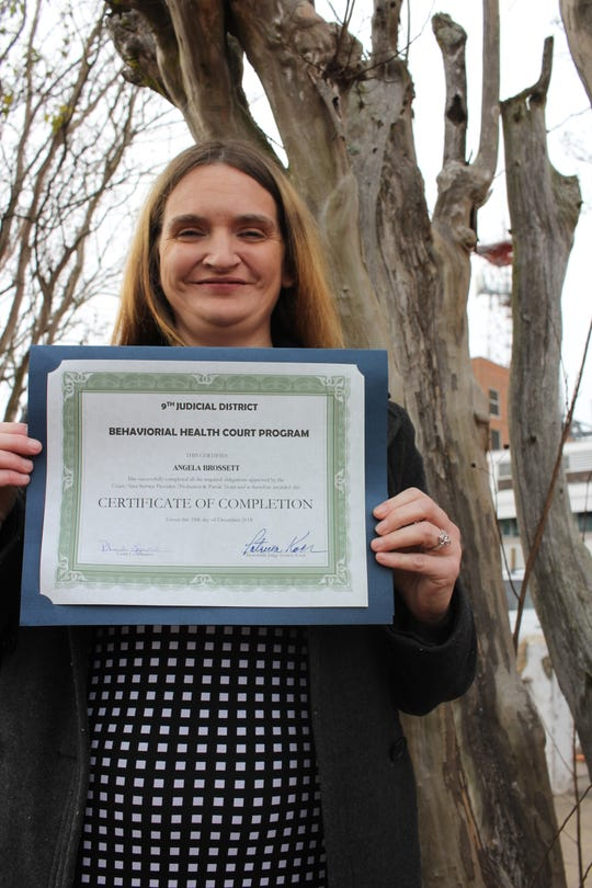 Angela Brossett wants to share her story of drug addiction and homelessness with others to let them know that recovery is possible. In December, she completed the 9th Judicial District Court's Behavior Health Court Program.