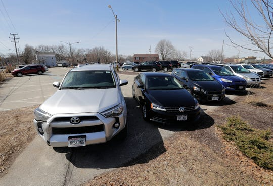 The Presbyterian parking lot on Church Street in Neenah is one of two sites under study for a 600-stall parking ramp.