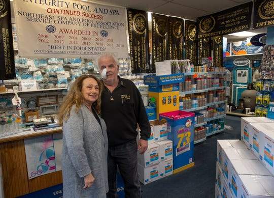 Rich Rosa, owner of Intregrity Pool & Spa in Lanoka Harbor with wife Linda. The family owned and operated company specializes in in-ground and above ground pool installation and spas for over 19 years.