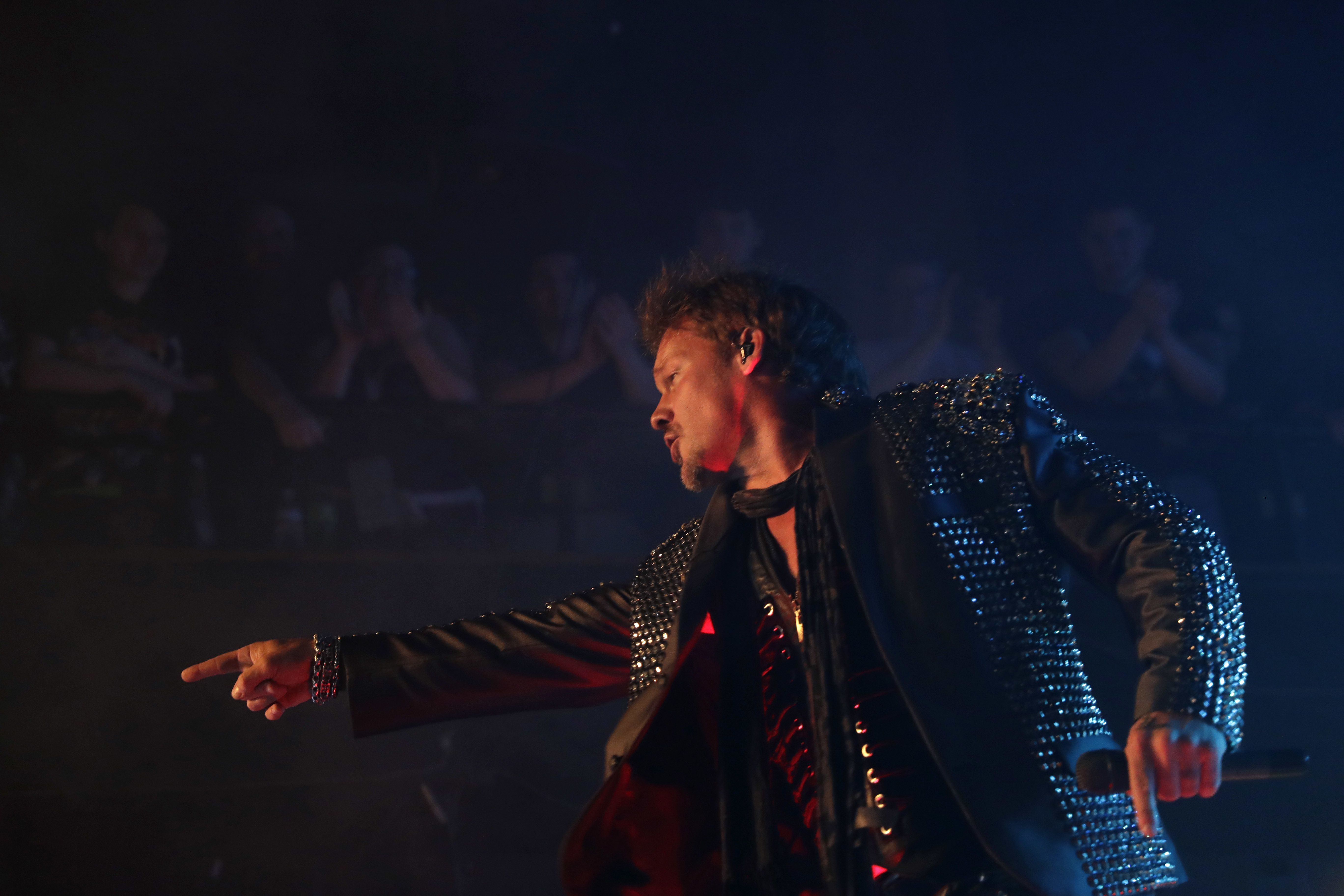 Lead singer Chris Jericho of the band Fozzy performs onstage at the Chameleon Club in Lancaster, Pa., May 17, 2017.