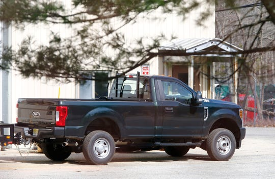A new vehicle is shown at the Colts Neck Department of Public Works yard off Rt 34 in the township Wednesday, March 27, 2019.