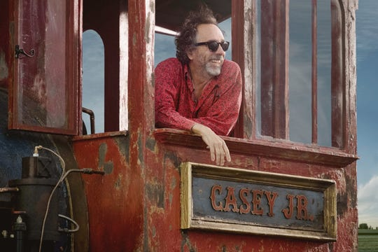 """Director Tim Burton, pictured on the set of """"Dumbo."""""""