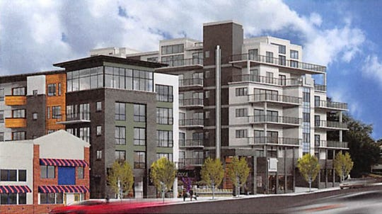 A new 56-room hotel and mixed-use complex at 155 Biltmore Ave. on the city's South Slope was approved March 26 by Asheville City Council on a 4-3 vote. The project was submitted to council by developer Al Sneeden.