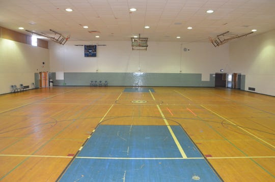 The former Springfield High School and Middle School gymnasium inside The Gathering Center in Springfield.