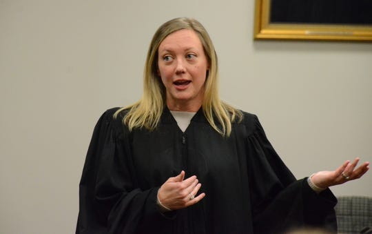 Associate Justice of the Michigan Supreme Court Elizabeth Clement attended Mental Health Court graduation in Calhoun County last month.