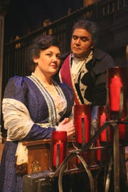 "Jessica Tarnish and Guido LeBron starred in Tri-Cities Opera's production of ""Tosca"" in 2010."