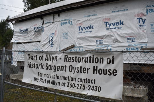 The North Bay Historical Society's Sargent oyster house restoration project received $218,000 in the state House of Representatives' capital budget proposal. The nonprofit wants to turn the historic building into a maritime museum.