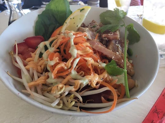 Holly Aaron enjoyed the  poke bowl with seared tuna at Fresh Scratch Bistro in Indian Harbour Beach.