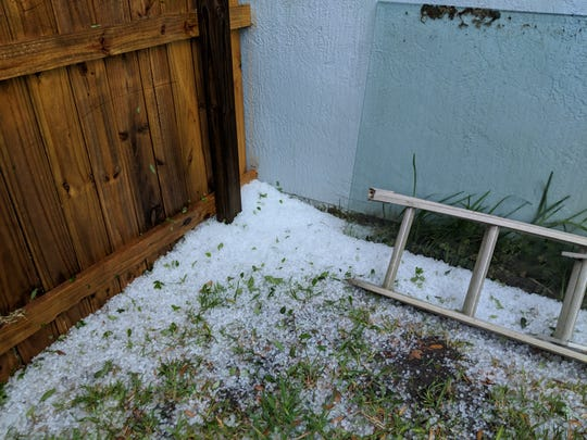 Hail in Rockledge March 27, 2019.