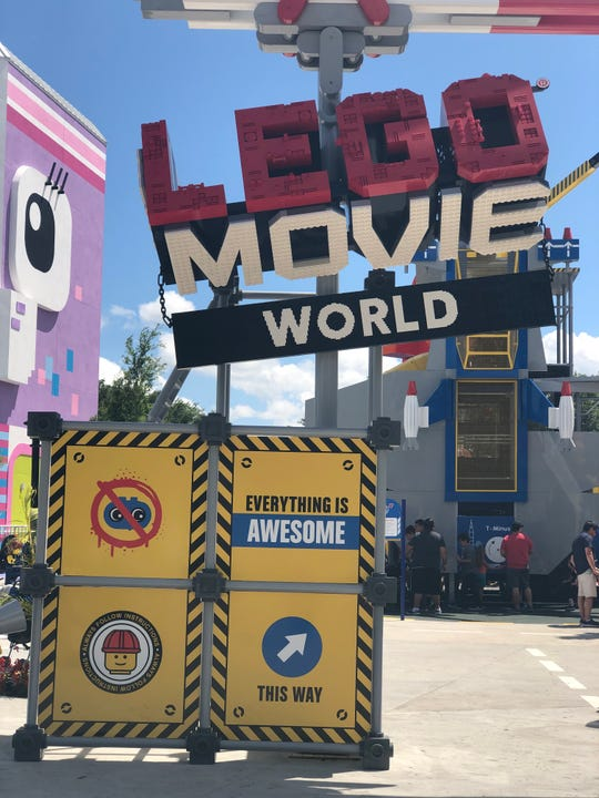 Putting the, er, lego pieces together for the Lego Movie World venue.