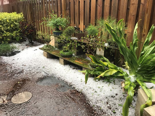 A severe thunderstorm brought ping-pong-sized hail to several areas of Brevard County March 27, 2019.