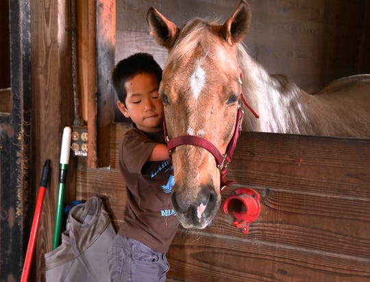 The Buckaroo Ball, a fundraiser for Harmony Farms is Saturday, March 30th at the Cocoa Convention Center. Harmony Farms offers equine assisted therapy for children like Bella and Nico Smith. Bella was born with no legs and a deformed left hand, her brother Nico was born without arms from the elbows down. Nico was petting one of the therapy horses after a ride.