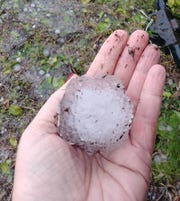 Hail storm batters Indialantic March 27, 2019.