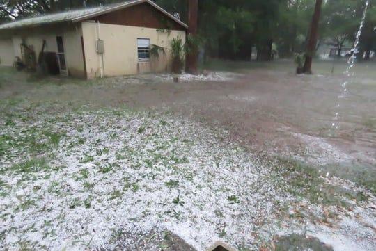 Hail storm hits Brevard County