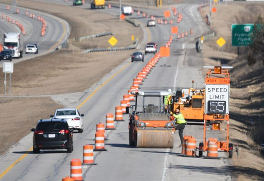 Orange barrels line U.S. 30 near the Ohio 98 exit. A minor rehabilitation project will affect traffic patterns on the bypass throughout the summer.