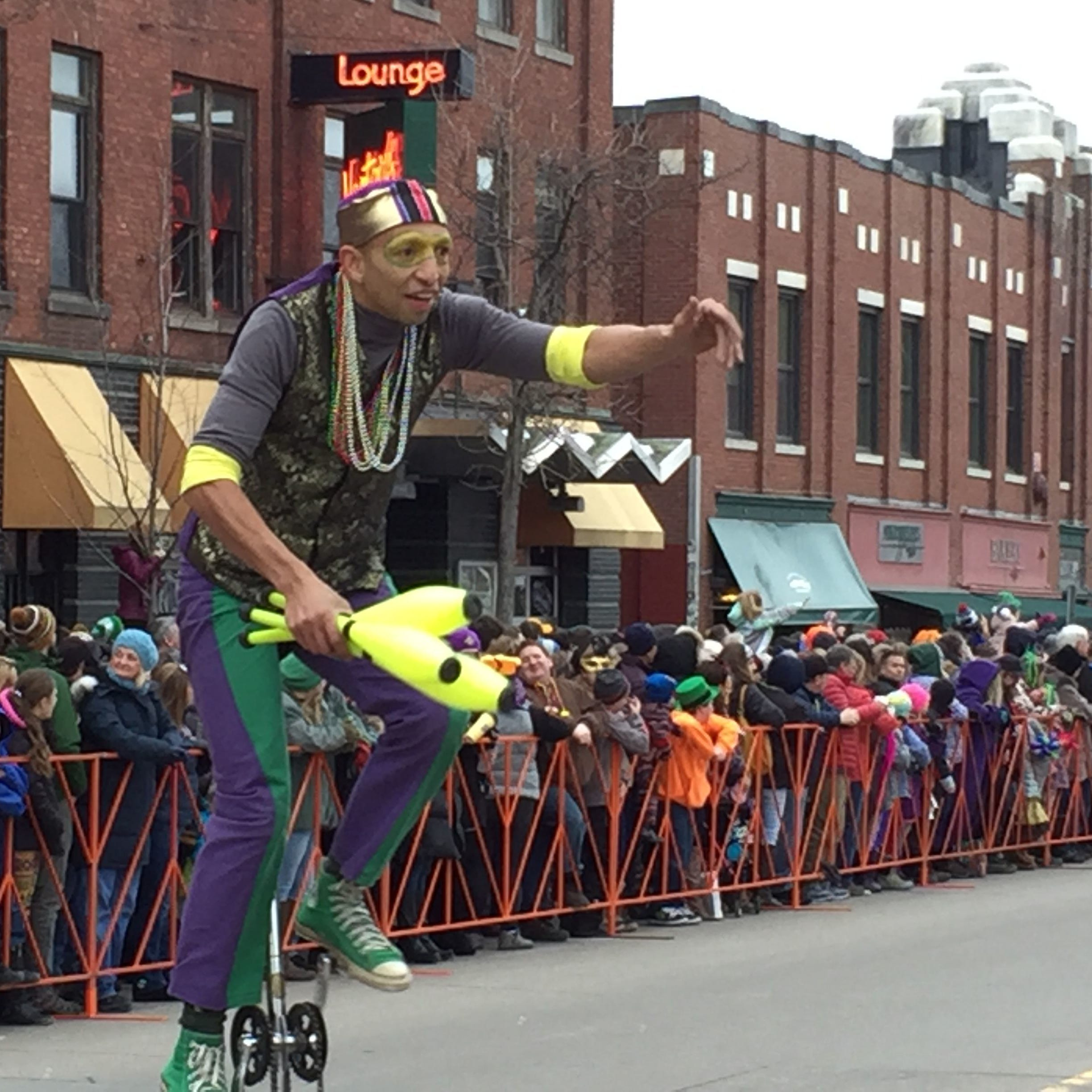 Burlington's big Mardi Gras parade is no more, replaced this weekend by a street party